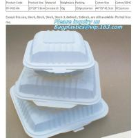 Buy cheap cornstarch eco Green 16oz Food Container Sugarcane Biodegradable Square Disposable Paper Salad Tray/Bowl bagplastics, pa from wholesalers