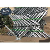 Buy cheap Galvanized Outside Barbed Wire Fence Post Diameter 500mm Razor Wire Brackets from wholesalers