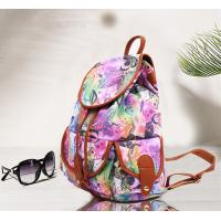 Buy cheap Teenager Girls Canvas Fashion Ladies Backpack Floral Design For Short Trips from wholesalers