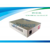 20 km Single Mode LFP Media Converter 10 / 100 / 1000 Base - Tx to 1000Base - LX MC 1310 nm
