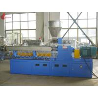 Buy cheap PLC Co - rotating Plastic Extruder Machine Alloy Twin Screw of modular from wholesalers