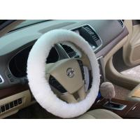 Buy cheap Wool Real Universal Sheepskin Steering Wheel Cover Handmade Anti Slip For Auto from wholesalers