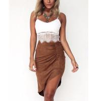 Buy cheap Two piece of dress lace top and suede imitate skirt women summer sets from wholesalers