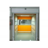 Buy cheap PVC Rolling Shutter Door Cleanroom Air Shower Micro-electronics PLC Control System from wholesalers