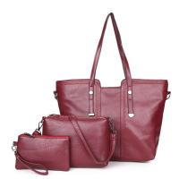 Buy cheap Wholesales Leather Tote Bag Sets Totes-Purse-Wristl for Women 3pcs in 1 Set Ladies Hand Bags from wholesalers