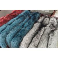 Buy cheap genuine silver blue red fox fur plates from wholesalers