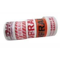 Buy cheap Fragile Custom Printed Packing Tape 50mm x 66m With BOPP Film Printed in Colored Texts from wholesalers