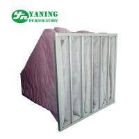 Buy cheap HVAC System Polyester Pocket Air Filter Bag M6-M9 3200m³/h Air Volume Galvanized Sheet Frame from wholesalers