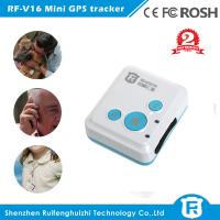 Buy cheap 2016 best price mini personal gps tracker hand held use for kids elderly students RF-V16 from wholesalers