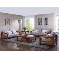 Buy cheap High end quality 1+2+3 Solid wood Leisure sofa set by Fabric and density sponge upholstered seat cushion from wholesalers