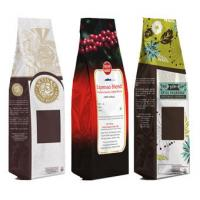 Buy cheap Standup Zip Lock Coffee Packaging Bags Quad Seal / Coffee Bag with Valve Gravure Printing from wholesalers