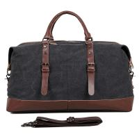 Buy cheap Large Grey Canvas Mens Luggage Duffel Bags For Outdoor 21.5 L X 9.5 D X 12 H from wholesalers