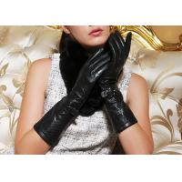 Buy cheap Hollow Sheep Lamb Leather Long Ladies Leather Driving Gloves with Customized Size and Color from wholesalers