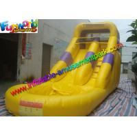 Buy cheap Custom Yellow Kids Outdoor Inflatable Water Slides Combo With Pool from wholesalers