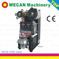 Buy cheap Top quality automatic bubble tea  plastic  cup sealing machine for sale from wholesalers