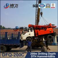 Buy cheap hydraulic trucked mounted portable DFQ-200C model water well drilling rigs for sale from wholesalers