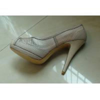 Buy cheap Fasion Nude Platform Ladies High Heeled Leather Shoes Honeycomb Mesh Design from wholesalers