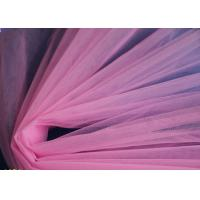 Buy cheap pink color mesh cloth,100% chinlon mesh fabric for wedding dress etc.. from wholesalers