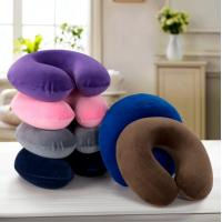 Buy cheap Travel neck pillow, memory foam filling U shape pillow with washable short-pile velour fabric cover from wholesalers