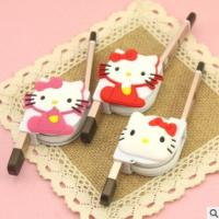 Dual Use Retractable Apple Data Cable Multi Purpose With Hello Kitty Cute Cartoon