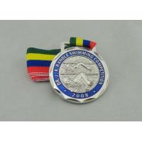 Buy cheap Antique Brass Plating Ribbon Medals Die Casting , Iron Man Medal from wholesalers