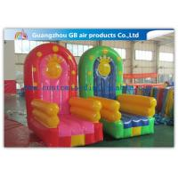 Buy cheap PVC Tarpaulin Seat Air Inflatable Sofa Couch Chair / Blow Up Advertising Signs from wholesalers