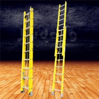 Buy cheap 6063 T5 300 Pound 16 Foot Fiberglass Extension Ladder from wholesalers