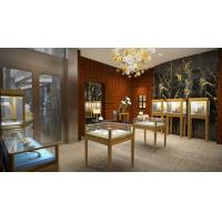 Buy cheap Jewellery Store Interior display furniture by Stainless steel showcase and Wall cabinets for Jewelry shop from wholesalers