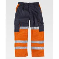 Buy cheap Workers Reflective Orange Hi Vis Trousers / Fashion Mens Safety Work Pants  from wholesalers