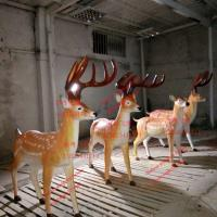 Buy cheap animal statue elk sculptures statues of fiberglass nature painting as decoration statue in garden theme park from wholesalers