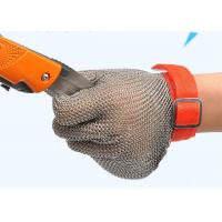 Buy cheap Wire Mesh Cut Resistant Gloves , Stainless Steel Gloves For Butchers from wholesalers