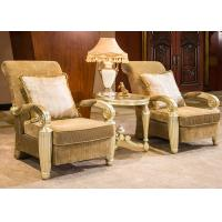 Buy cheap Indoor Luxury Hand Carved Wooden Lounge Chair With Gold Leaf Decorative from wholesalers