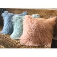 18 Inches Long Sheep Fur Decorative Pillows, Mongolian Fur Outdoor Throw Pillows