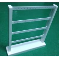 Buy cheap Acrylic Earring Display Stand White Jewellery Stand Rack with 4 Tiers for Drop Earring from wholesalers