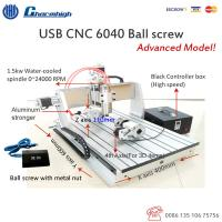 Buy cheap USB Controller 4 Axis CNC 6040 1.5kw spindle 2.2kw VFD Z Axis 100mm CNC 3D Router Machine from wholesalers