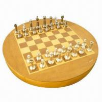 China Deluxe Premium Edition Metal Chess Set and Wooden Storage Chess Set on sale