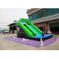 Buy cheap Plato Material Sewing Inflatable Wet Slide , Grenn And Black Water Inflatable Slide from wholesalers