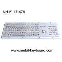 Buy cheap Vandal - Resistance IP65 Industrial PC Keyboard with 25MM Metal Trackball from wholesalers