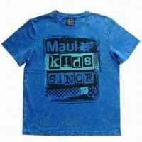 Buy cheap Kid's T-shirt with printing on front, tie dyed wrinkles from wholesalers