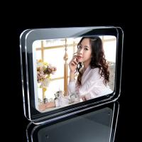 Buy cheap Free Standing Magnetic Acrylic Photo Frames For Leaflets , Transparent product