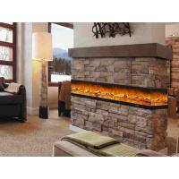 Buy cheap Iron Panel Wall Mounted Electric Fireplace , Flame Fireplace Heaters 750-1500 watts from wholesalers