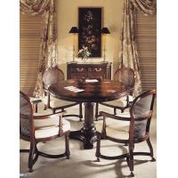 Buy cheap Wood Mahogany Round Restaurant Hotel Dining Table With Chair from wholesalers
