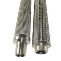 Buy cheap Pleated Stainless Steel Filter Element Liquid Stainless Steel Mesh Filter Cartridge from wholesalers