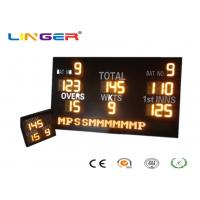 Buy cheap Customized Design LED Cricket Scoreboard With Mini Repeater 1200mm*2000mm*100mm from wholesalers