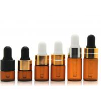 Buy cheap Round Dropper 1ml Cosmetic Glass Bottles With Glass Pipette For Essential Oil product