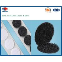 Buy cheap Sticky back Hook And Loop Coins , Black Hook and Loop dots Nylon / Polyester from wholesalers