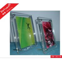 Buy cheap 5 × 7 Inch Acrylic Photo Frames Magnet Rectangle Transparent With Screw from wholesalers