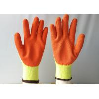Buy cheap 10 Gauge Latex Coated Gloves Yellow Cotton / Polyester Knitted For Construction from wholesalers