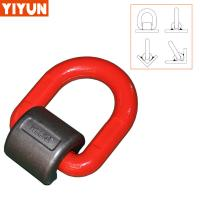 Buy cheap G80 Forged Alloy Steel welded D ring for lifting points weld-on pivoting link yiyun from manufacturer from wholesalers