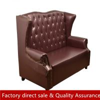 Buy cheap Luxury crystal button booth sofa for hotel restaurant classical high back custom made sofa booth seating sofa leather from wholesalers